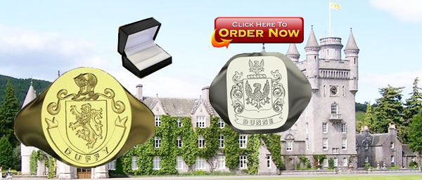silver family crest rings