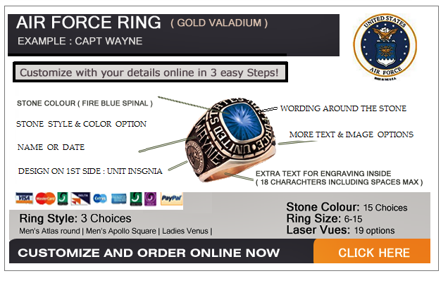 custom made air force rings